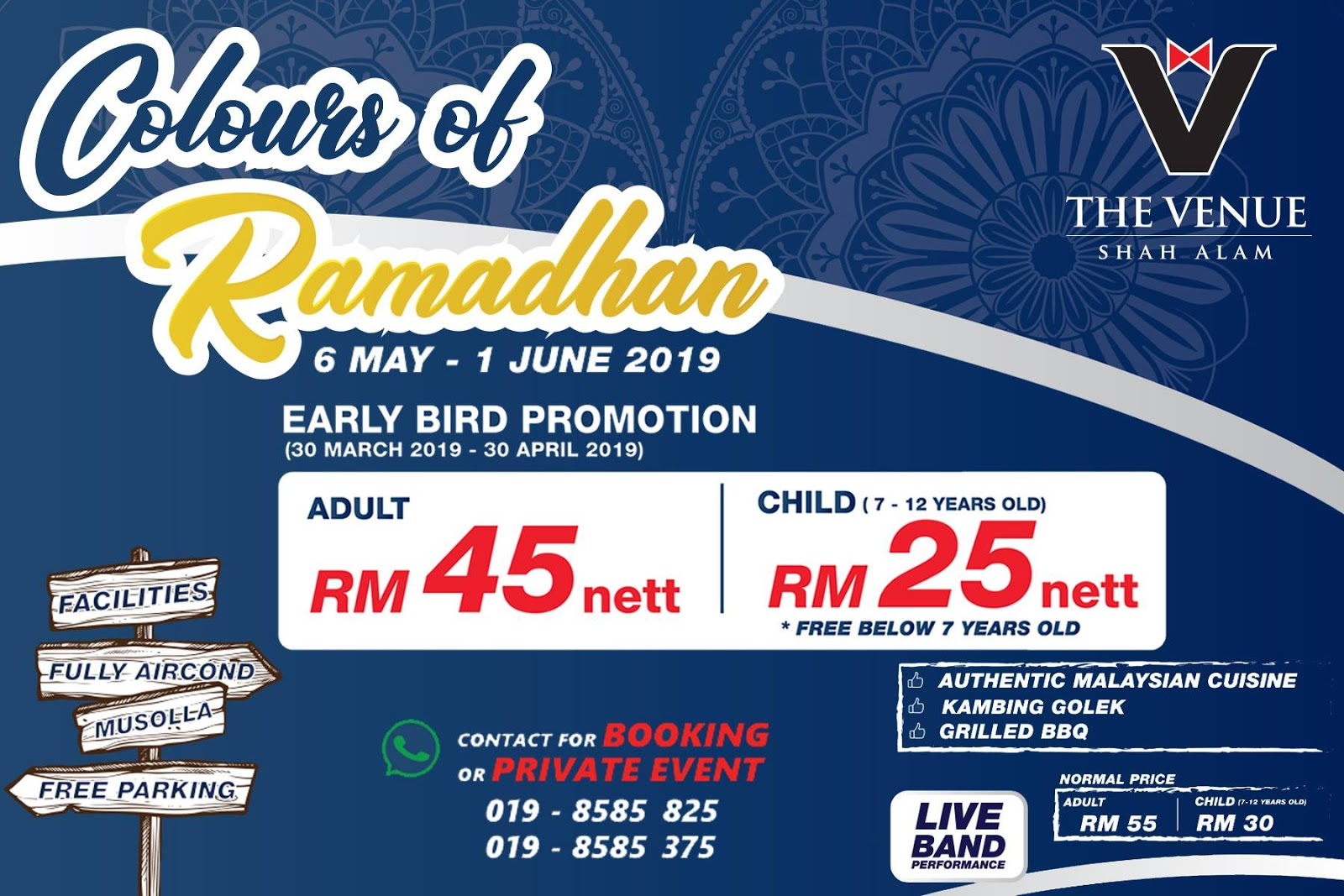 The Venue Shah Alam, Buffet Ramadhan murah di Shah Alam, Buffet Ramadhan 2019, Buffet Ramadhan Shah Alam, Rawlins Eats, Rawlins GLAM