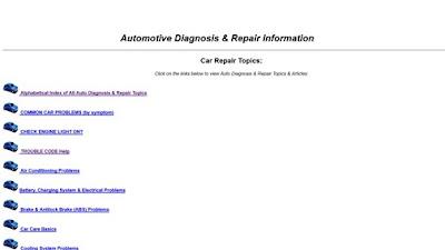 موقع رائع لتشخيص اعطال السيارات وكيفيه الاصلاح