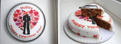 baker days letterbox gift cake, baker days valentine's day cake, icing cake