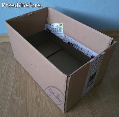 DIY: Organizer z kartonu do szuflady lub szafy