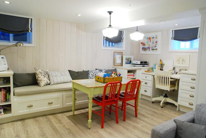 wall trim ideas, plank wall, whitewashed wall, whitewash planks, basement wall treatment, shiplap alternatives