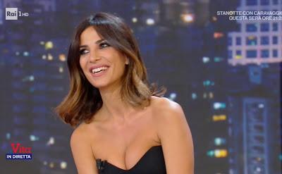 Roberta Morise seno bellissima conduttrice televisiva