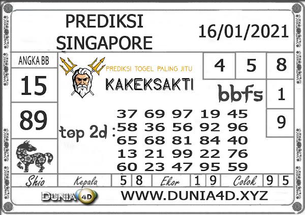 Prediksi Togel SINGAPORE DUNIA4D 16 JANUARI 2021