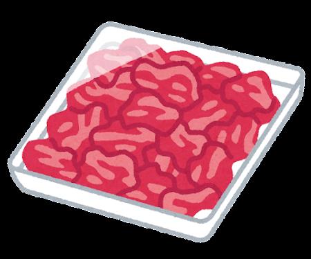 細切れ肉のイラスト