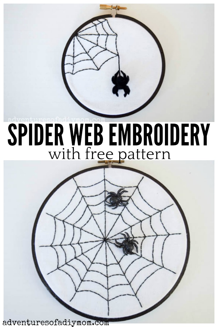 Spider Web Embroidery With Free Pattern Adventures Of A Diy Mom