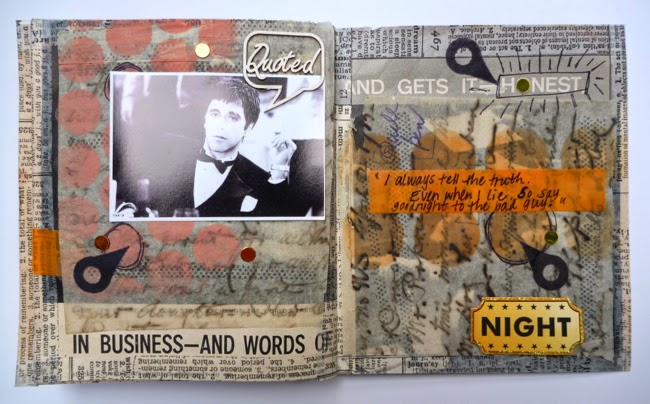 Handmade Scarface Mini Album Inner Page Al Goodnight by Dana Tatar