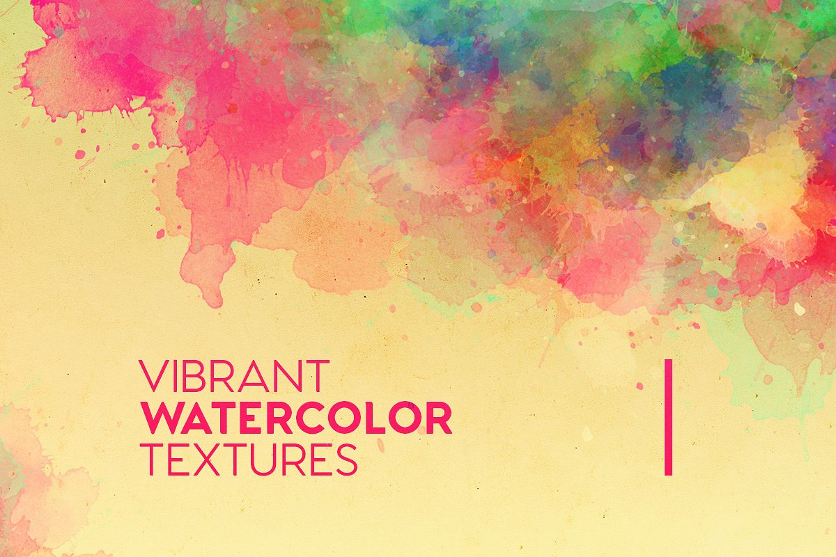 Book Cover Watercolor Brushes : Vibrant watercolor textures مبدعي الفوتوشوب
