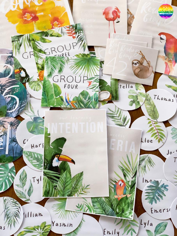 TROPICAL COAST Classroom Labels + Signs Pack | you clever monkey