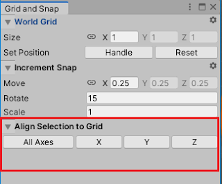 grid and snap setting in unity editor