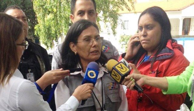 La rectora del Consejo Nacional Electoral (CNE), Socorro Hernández,