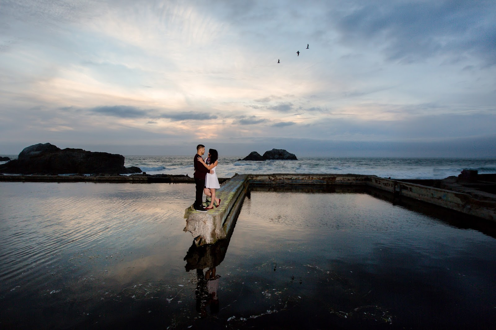 The Sutro Baths Engagement couple