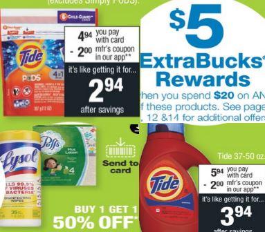 tide lysol cvs couponers coupon deal