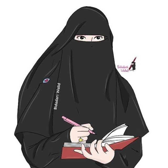 kartun muslimah dp fb twitter