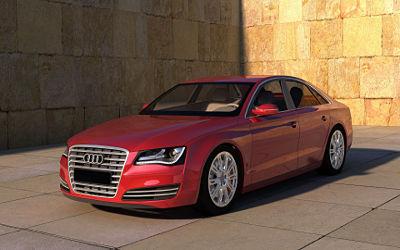 Audi A8 Rouge - Fond d'écran en Full HD 1080p