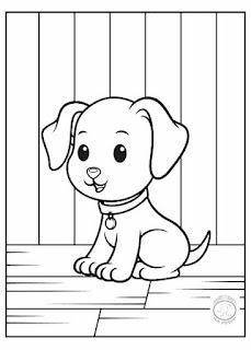 animales bebé para colorear perro