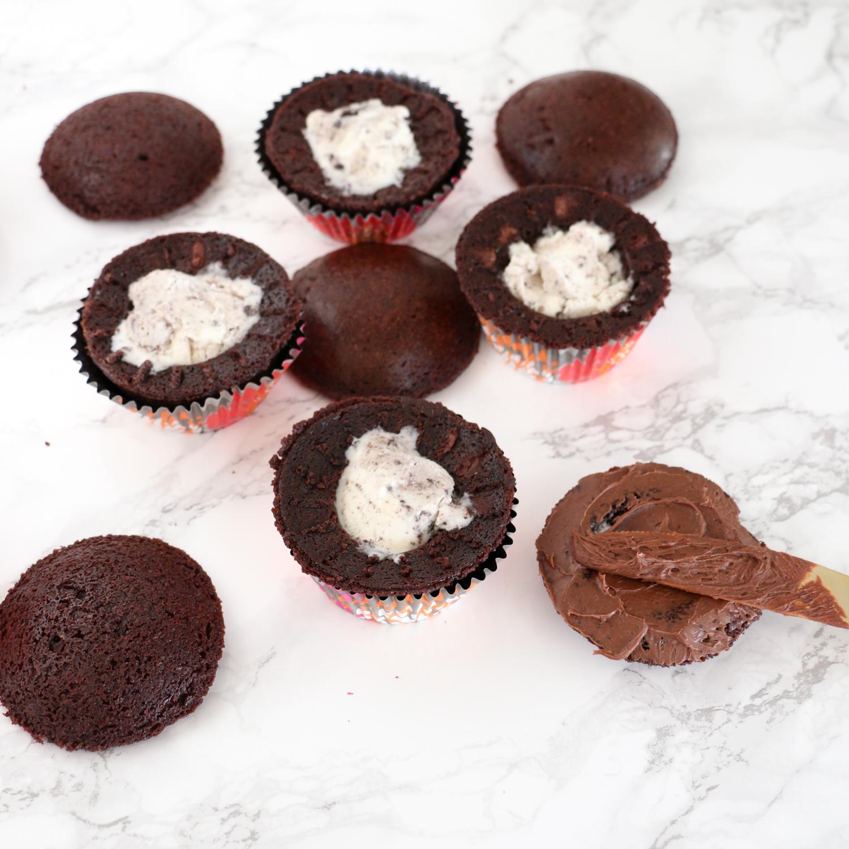 ... brownie bottom ice cream cupcakes recipes dishmaps brownie ice cream