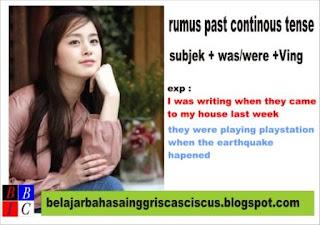 contoh kalimat past continous tense