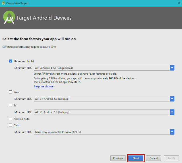 Target Android Devices, Android Studio