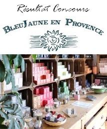 Résultat Concours Savonnerie Bleujaune en Provence chez Les Mousquetettes