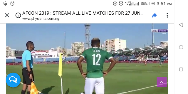 AFCON 2019 : STREAM ALL LIVE MATCHES FOR 27 JUNE 2019
