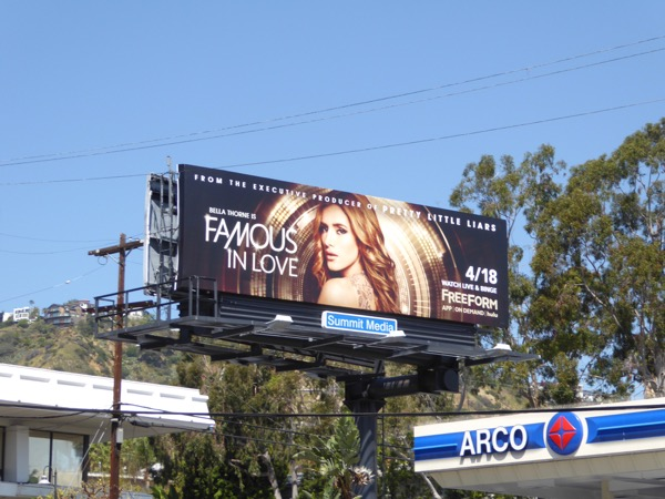 Famous in Love season 1 billboard