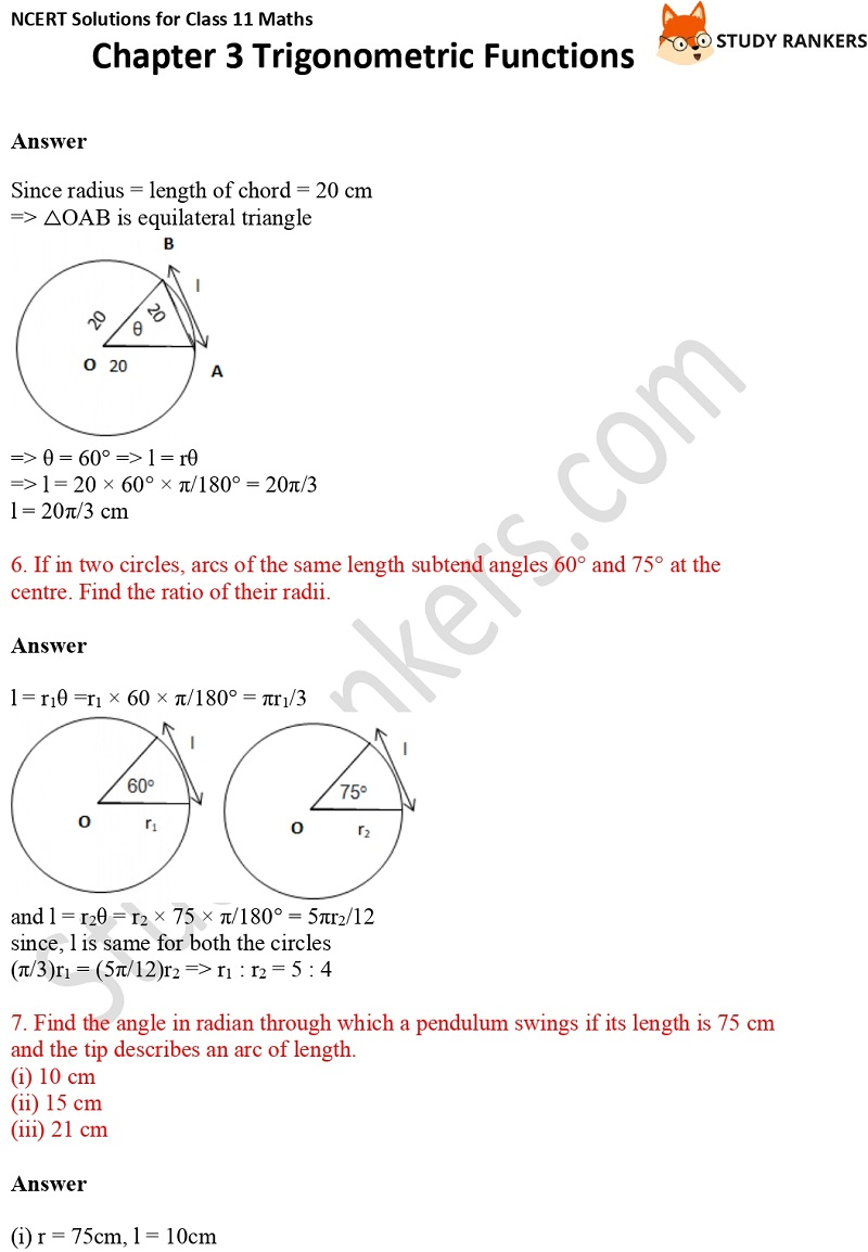 NCERT Solutions for Class 11 Maths Chapter 3 Trigonometric Functions 3
