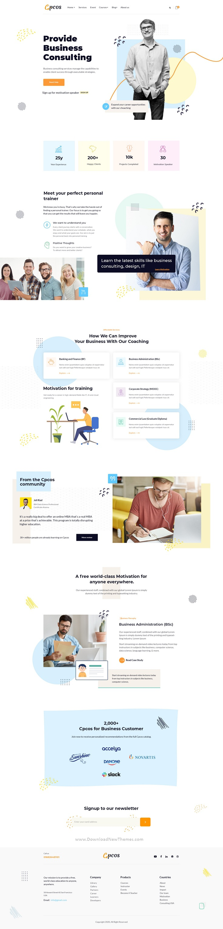 Coach & Business Consulting Photoshop Template