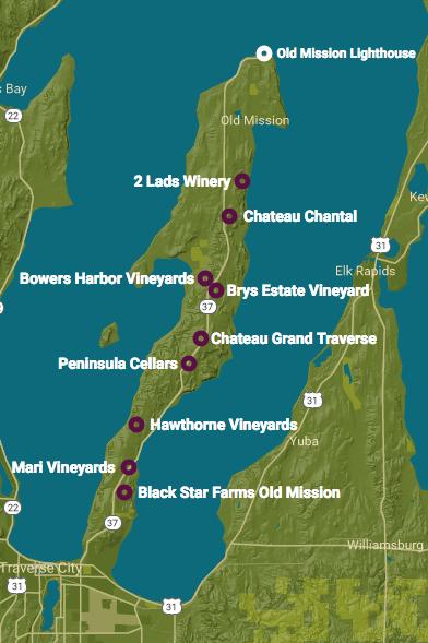 Old Mission Peninsula in Michigan
