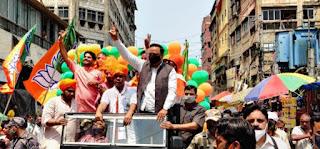 पश्चिम बंगाल के प्रचार में छाए एड आशीष शेलार | #NayaSaberaNetwork