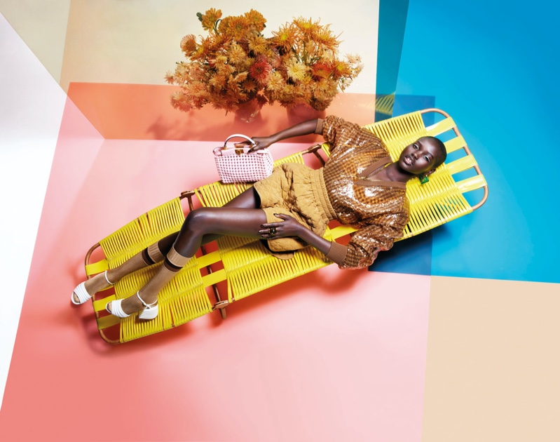Adut Akech fronts Fendi spring-summer 2020 campaign