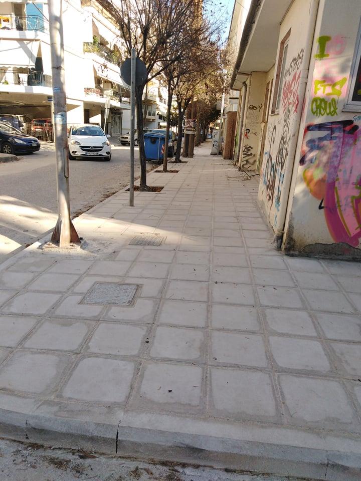 Νέα πεζοδρόμια στο σχολικό συγκρότημα του Αγίου Αντωνίου στη Λάρισα (ΦΩΤΟ)