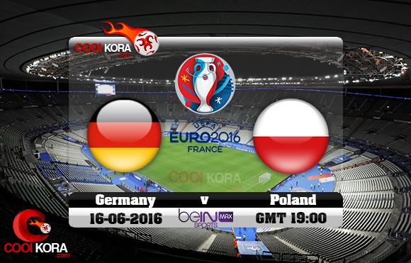مشاهدة مباراة ألمانيا وبولندا اليوم 16-6-2016 بي أن ماكس يورو 2016
