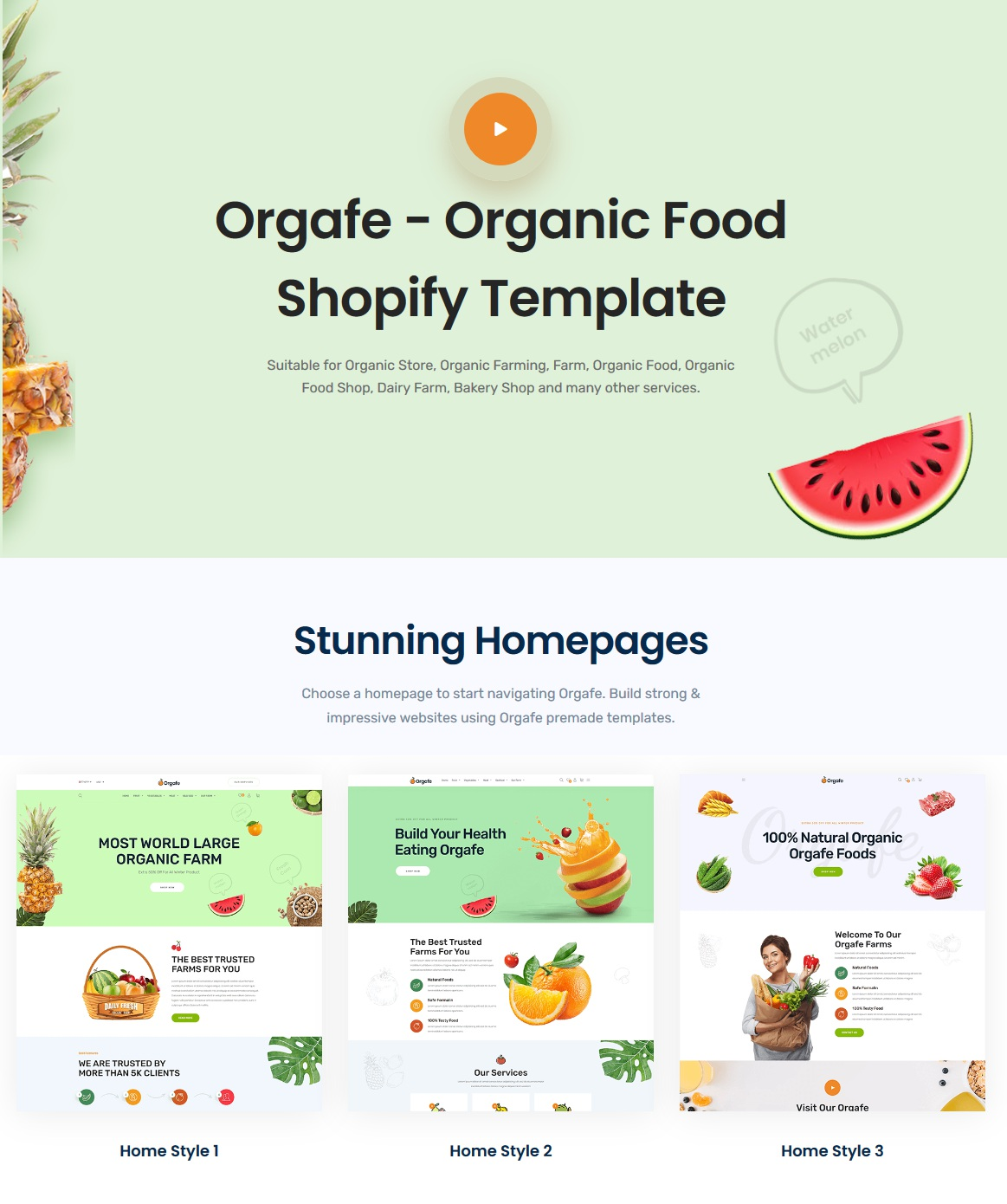 Organic Food Shopify Template