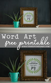 Farmhouse Glam Laundry Room Makeover and Free Printable Word Art