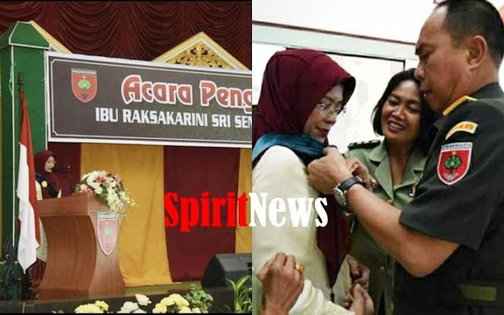 Ny. Arinta Andi Sumangerukka,  Dikukuhkan Sebagai Ibu Raksakarini Sri Sena Kodam XIV Hasanuddin