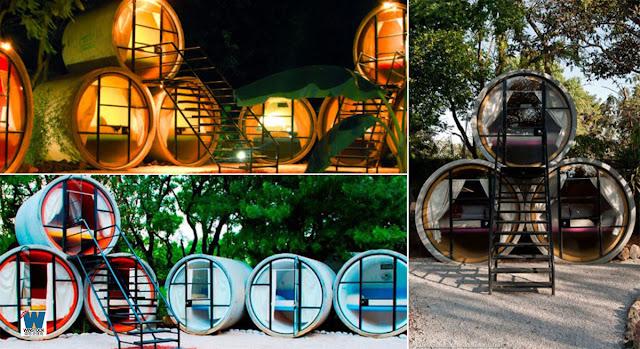 墨西哥州 Tepoztlán 酒店 和奧地利酒店的水管屋設計3