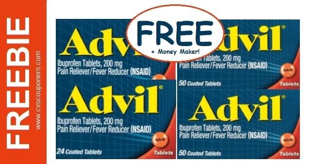 FREE Advil Pain Reliever CVS Deals