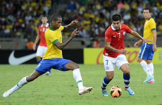 Brasil y Chile en partido amistoso, 24 de abril de 2013