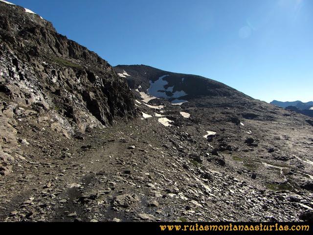 Ruta Posiciones del Veleta - Mulhacén: Pista por la que avanzamos
