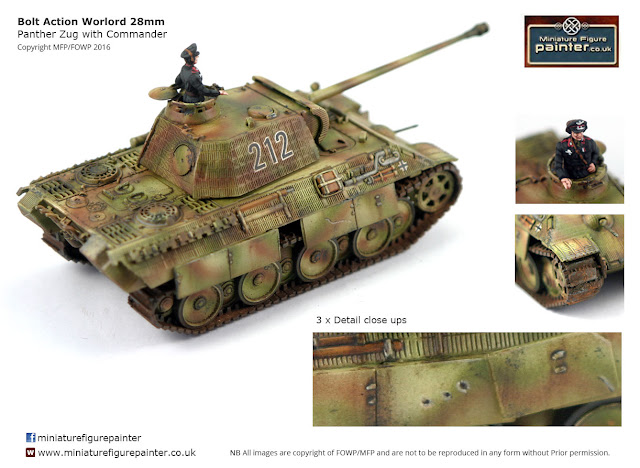 Bolt Action Warlord 28mm Panther Zug Painted By Flames of War Painting/ MFP