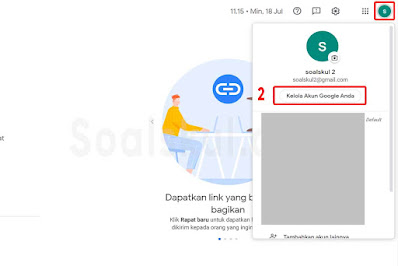langkah 2 ganti nama google meet laptop
