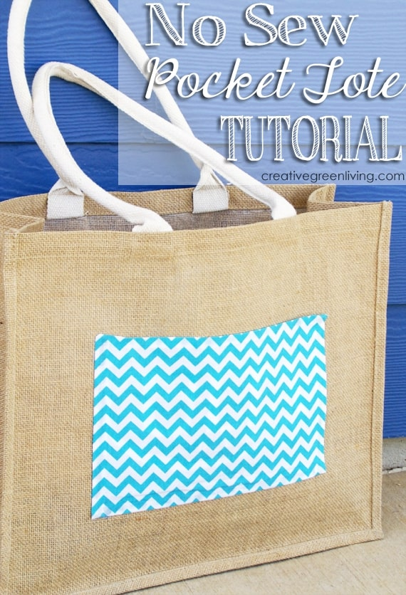 No-Sew Pocket Tote from Creative Green Living