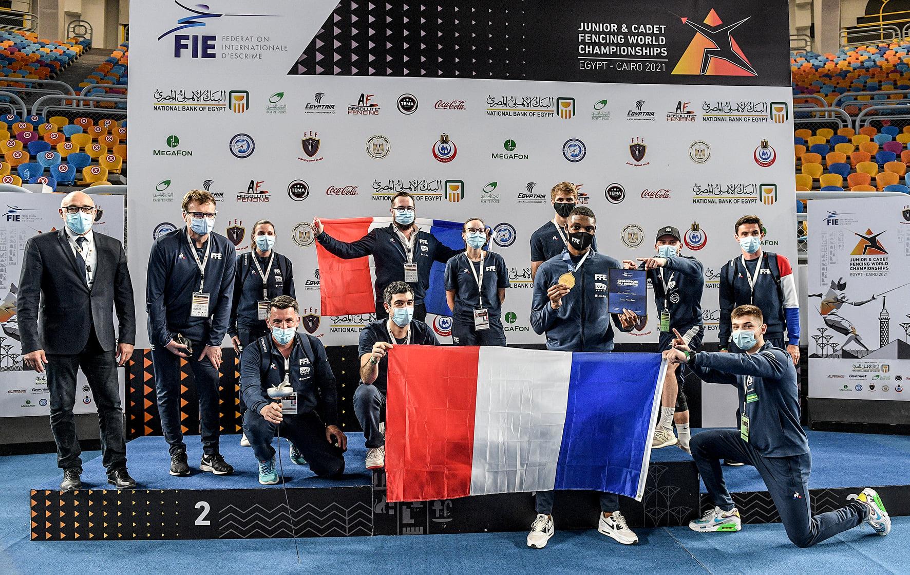 Team France  KendrickJean Joseph  fencing epée espada esgrima