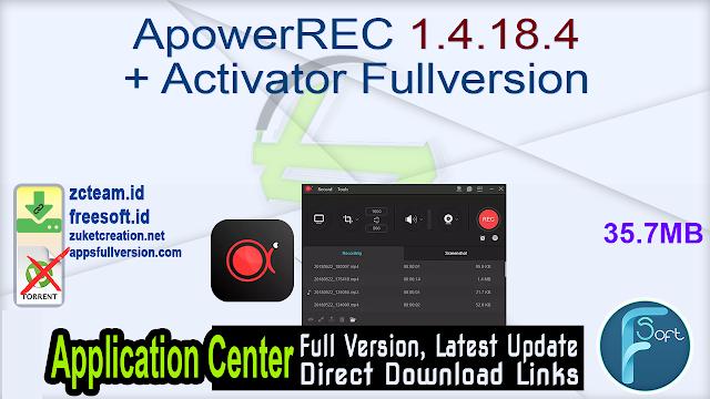 ApowerREC 1.4.18.4 + Activator Fullversion
