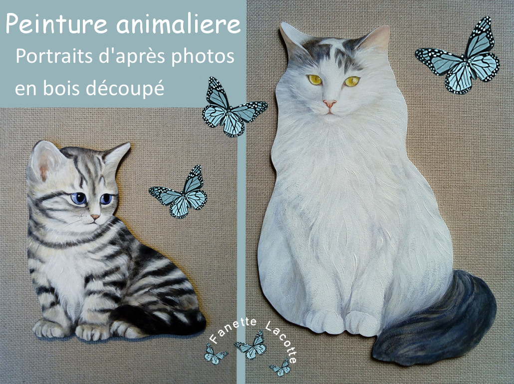 Envie d'un portrait original de votre animal favori ? (Chats, chiens etc.)