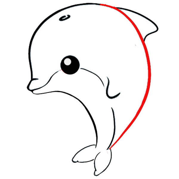delfin kawaii colorear imprimir