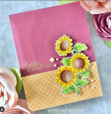 Hello sunshine by Farhana features Sunflower Days by Newton's Nook Designs; #newtonsnook