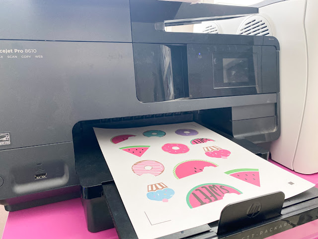 """stickers, 15"""" cameo 4, print and cut, sticker paper, silhouette CAMEO beginners"""