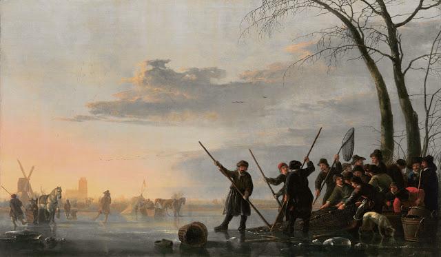 Альберт Кёйп - Рыбаки на льду Мааса