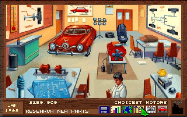 Screenshot from the computer game Detroit - Research Screen